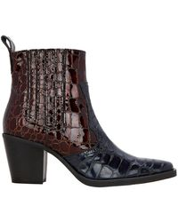 Ganni - Callie Two-tone Boots - Lyst