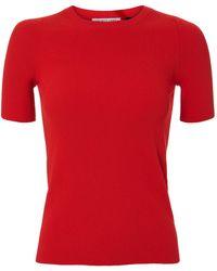 Helmut Lang - Rib Knit Essential Red Tee - Lyst