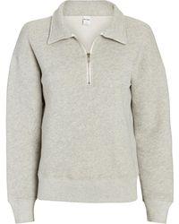 RE/DONE 70s Half-zip Cotton Sweatshirt - Gray