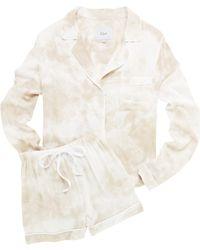 Rails Kellen Tie-dye Pajama Short Set - Natural