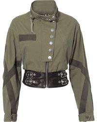 Alexander Wang - Leather Waist Military Jacket - Lyst