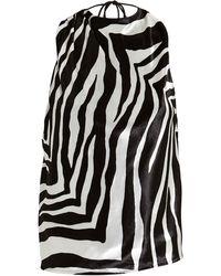 Michelle Mason - Open Back Draped Velvet Top - Lyst