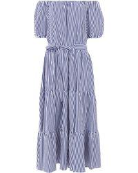 MDS Stripes - Lexi Peasant Dress - Lyst