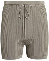 Cult Gaia Vera Rib Knit Biker Shorts - Green