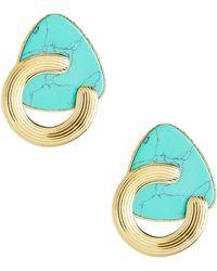 Gas Bijoux - Bo Anemone Turquoise Earrings - Lyst