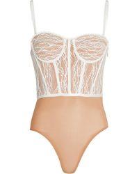 Jonathan Simkhai Lace Bustier Bodysuit - White