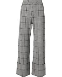 Sea - Bacall Plaid Cuff Trousers - Lyst