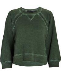 Veronica Beard Natti Pima Cotton Sweatshirt - Green