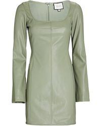 Alexis Vanna Vegan Leather Mini Dress - Green