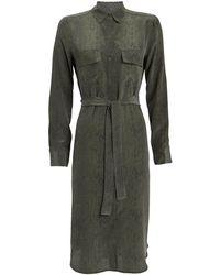 Rails - Alix Silk Python-printed Shirt Dress - Lyst