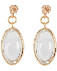 Tohum Pure Light Rock Crystal Earrings - Metallic