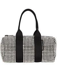 Alexander Wang Mini Cruiser Crystal-embellished Duffle Bag - White