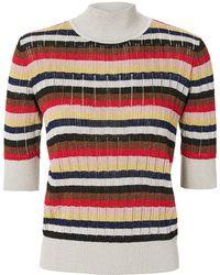 Sonia Rykiel - Lurex Multi-striped Top - Lyst