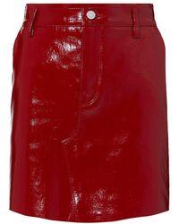 RTA - Red Patent Leather Mini Skirt - Lyst