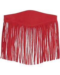 Maison Boinet Fringe Leather Waist Belt - Red