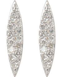 Adina Reyter Pavé Marquise Stud Earrings - Metallic