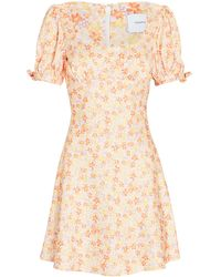 Significant Other Jolie Floral Puff Sleeve Mini Dress - Multicolour
