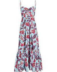A.L.C. - Emilia Printed Midi Dress - Lyst