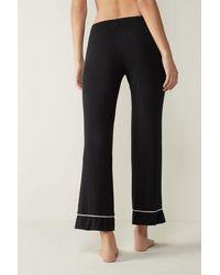 Intimissimi Pretty Flower Modal Pants - Black