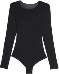 Intimissimi Modal And Cashmere Long-sleeve Bodysuit - Black