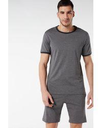 Intimissimi Cropped Basic Supima® Cotton Pajamas - Gray