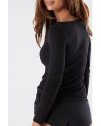 Intimissimi T-Shirt manches longues en modal - Noir