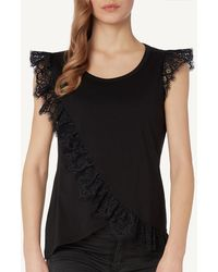 Intimissimi - Supima® Cotton Tank Top With Lace Details - Lyst