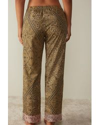 Intimissimi Full Length Pants In Bandana Mania Cotton Cloth - Multicolor