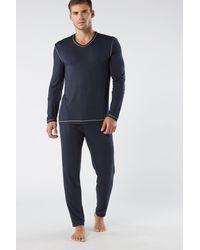 Intimissimi Micromodal Pajamas - Blue