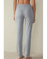 Intimissimi Wearing Cloud Modal Cuffed Pajama Bottoms - Blue