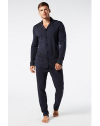 Intimissimi - Long Buttoned Pajamas In Warm-handle Cotton - Lyst