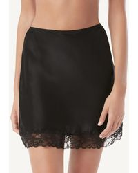 Intimissimi Silk And Lace Skirt - Black