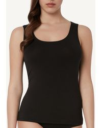 Intimissimi - Wide-shoulder Vest Top In Modal Cashmere - Lyst