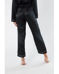 Intimissimi Silk Satin Pajama Pants - Black