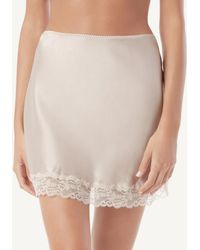 Intimissimi Silk And Lace Skirt - Natural