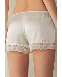 Intimissimi Silk Shorts - White