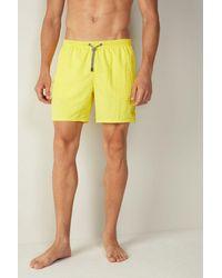 Intimissimi Plain Mid-length Swim Shorts - Yellow