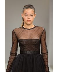 Irene Luft Knee-length Dress With Black Lace