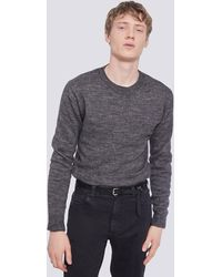 IRO PULL COL ROND TOUCHER DOUX PHOEBO - Gris