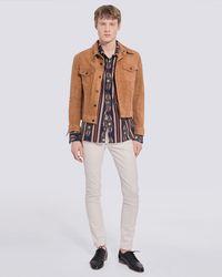 IRO Roye Trucker Suede Leather Jacket - Multicolor