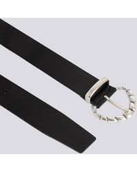 IRO - Solven Thin Leather Silver Buckle Belt - Lyst