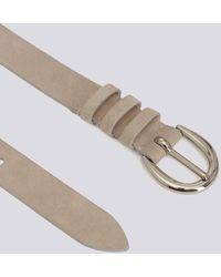 IRO - Pita Classic Silver Buckle Suede Belt - Lyst