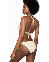 Ivyrevel Tie Side Bikini Bottom Yellow Pepita