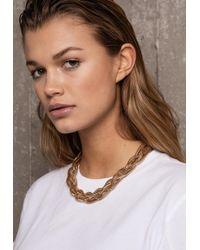 Ivyrevel - Plait Chain Necklace Gold - Lyst