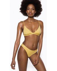 Ivyrevel Triangle Bikini Top Yellow
