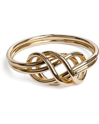 Ivyrevel | Knot Bangle Gold | Lyst