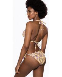 Ivyrevel Tie Side Bikini Bottom Purple Zebra