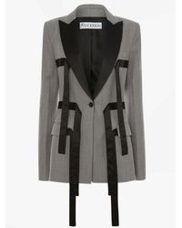 JW Anderson Straps Tailored Jacket - Gray