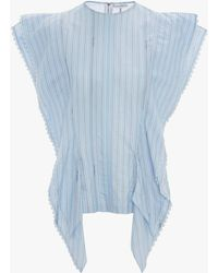 JW Anderson Tab Detail Kite Top - Blue