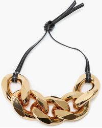 JW Anderson Small Chain-link Necklace - Black
